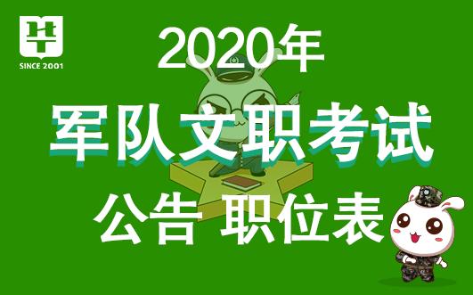 2020军队文职招聘考试公告出了吗?陕西职位表